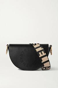 STELLA MCCARTNEY Small perforated vegetarian leather Bag, Black, New, Ori$730!!!