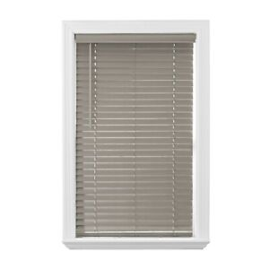 """Rustic Blinds 2"""" Cordless Faux Gray Wood Privacy Window Coverings Room Darkening"""