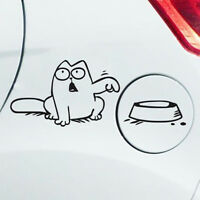 Simon's Cat Bowl Decal Hungry Fuel Tank Cap Cover Vinyl Lifelike Car Sticker