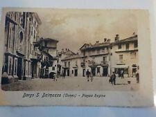 CARTOLINA POSTCARD Borgo San Dalmazzo (CN) - Piazza Regina - viaggiata - 1908