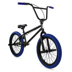 "Elite BMX 20"" Bike Stealth Freestyle Black Blue NEW 2020-2021 1-Piece"