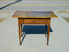 Walnut Country Pegged Work Table with Drawer
