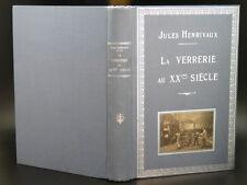 HENRIVAUX Verrerie XXe Siècle OPTIQUE BOUTEILLE CRISTAL PHARE Cartonnage Editeur