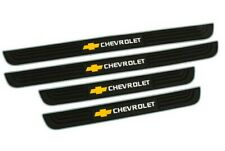 4Pcs Silver Rubber Car Door Scuff Sill Cover Panel Step Protector For Chevrolet (Fits: Chevrolet)
