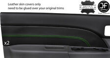 GREEN  STITCH 2X FRONT DOOR CARD LEATHER COVERS FOR FORD RANGER MAZDA BT50 06-12