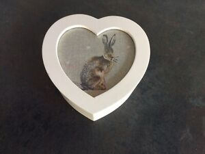 Small Wooden Trinket Box- With Heart And Hartley Hare Detail