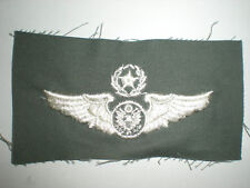 USAF MASTER AIRCREW WINGS -COLOR ON SAGE GREEN TWILL