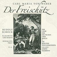CD Der Freischütz von Carl M. Weber 2CDs Berliner Philharmoniker,Joseph Keilbert