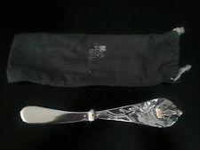 Cheese Knife, Silver Colored, Frog on Handle, Unused in cloth sleeve