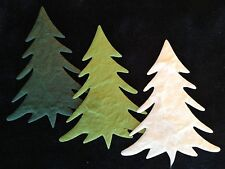 100 Trees Christmas tree holiday Handmade Mulberry Paper cards scrapbook