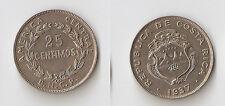 Costa Rica 25 centavos 1937  High grade!!! aUNC!!!