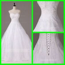Sequin Organza A-Line Wedding Dresses