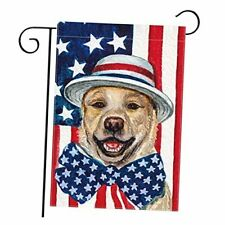 Patriotic 4th of July Garden Flag for Outside 12x18 Double Sided Watercolor