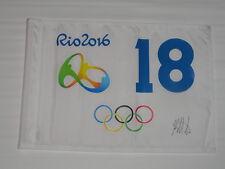 BUBBA WATSON SIGNED 2016 RIO OLYMPICS PIN FLAG MASTERS GOLD MEDAL