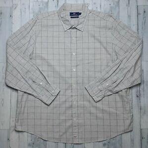 Vineyard Vines Slim Fit Murray Shirt Check Plaid Men's Size XXL 2XL Beige EUC!