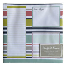 SHEFFIELD HOME JUMBO Notepad Office Pad Stationary Natural Pencil To Do List