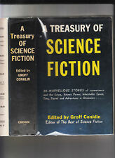A TREASURY OF SCIENCE FICTION-GROFF CONKLIN-1948-RARE CLASSIC-1ST ED-HB/J HI GR