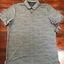 Nike Golf Dry Dri-fit Mens Polo Shirt Camo Gray 2xl Aa1852-021 Tiger Dri Fit