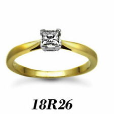 Solitaire Princess Engagement Very Good Fine Diamond Rings