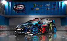 "FORD FIESTA MONSTER KEN BLOCK A1 CANVAS PRINT POSTER FRAMED 33.1"" x 21.4"""