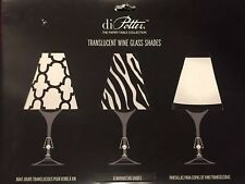 di Potter 6 Manhattan ShadesTranslucent Wine Glass Shades Set/6