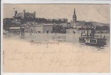 AK Bratislava, Pressburg, Burg, Dampfer 1897