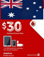New Australian PREPAID SIM CARD with AU $30 of credit incl. Vodafone, AUSTRALIA
