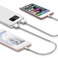 Portable 20000mAh Power Bank 2-USB External Charger Battery For Iphone Samsung