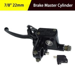 "7/8"" Right Motorcycle Hydraulic Brake Pump Master Cylinder Brake Light Switch"