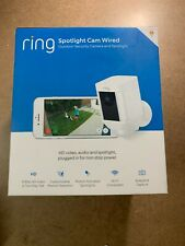 New listing Ring Spotlight Cam Wired: Plugged-in Hd security camera with built-in spotlights