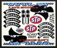 Outlaw Late Model Detail Decals for RC Cars,Late Models,Stock Cars,Dirt Oval#553