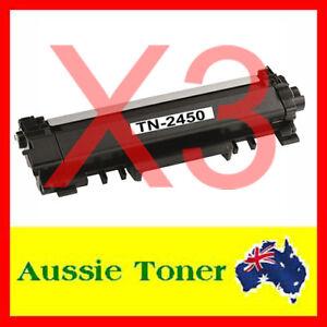 3x TN-2450 W/CHIP Toner for Brother MFC-L2713DW MFC-L2730DW MFC-L2750DW L2350DW