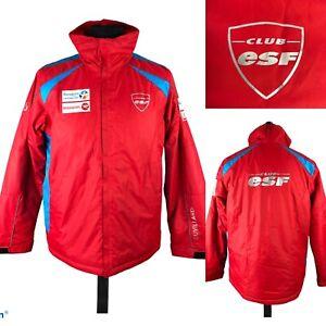 Duvillard Club ESF Bouygues Telecom Red Ski Jacket Winter Jacket Men's Size M
