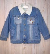 USED KID'S WARNER BROS LOONEY TUNES JEANS JACKET WARM SIZE S SMALL