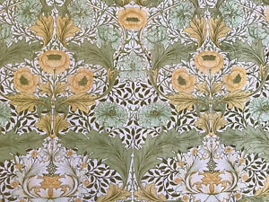 William Morris Sanderson 'Myrtle' Green, Pantry White And Buttercup Floral 51x51
