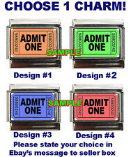 Movie Tickets Admit One Custom Italian Charm! Best charms on eBay! Ticket!