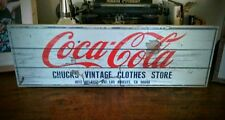 Coca Cola Vintage Sign - Handmade, Rustic, Brand New Kitchen Wall Decoration