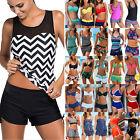 Womens Ladies Bikini Tankini Set W/ Boy Shorts Swimwear Swimsuit Bathing Suit Us