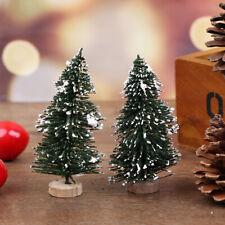 2Pcs Dollhouse Miniature Christmas Tree Fairy Garden Doll House Decoration UK