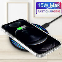 15W Qi Wireless Charger Mat Charging Pad Dock For iPhone 12 Pro Max /QC 3Adapter
