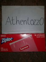 Supreme Ziploc Bags (Box of 30 Count) NEW / UNOPENED ✅ FAST SHIPPING! ✅