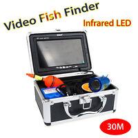 "30m 7"" LCD Infrared IP68 HD 1000TVL Underwater Fishing Video Camera Fish Finder"