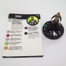 Heroclix Star Trek Away Team set Korax #015 Uncommon figure w/card!