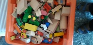Brio Holzeisenbahn Bauernhof aus Holz ganze Kiste