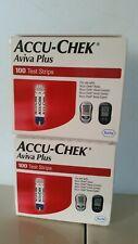 Accu-Chek Aviva Plus Blood Glucose Diabetic Test Strips box of 100 exp. 11/30/21
