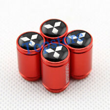 Red Style Auto Parts Wheel Tire Tyre Stem Air Valve Caps For Mitsubishi Vehicle