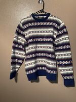 Vintage Jantzen Pullover Sweater Made in USA Size  L Blue