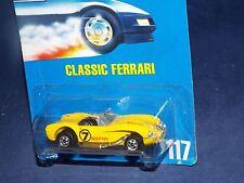 Hot Wheels 1991 Blue Card #117 Classic Ferrari Yellow w/ BWs Speed Points