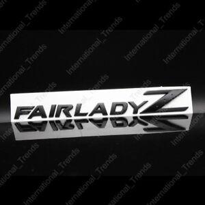 NEW Black Fairlady Z Emblem Replace Fair Lady Z Fender / Trunk Badge 350Z 370Z
