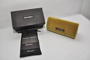Dolce Gabbana Gold Velvet Hard Large Case Dolce Gabdolce gabana Case Sunglasses